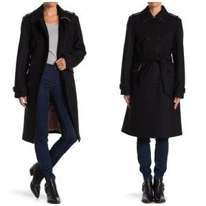NWT Kate Spade Double Breasted Wool Belt Pea Coat